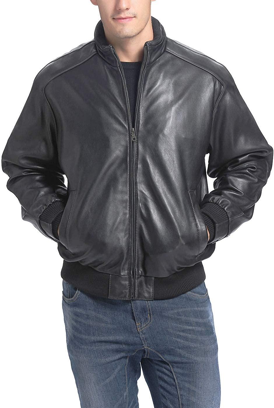 Bgsd Men S City Lambskin Leather Bomber Jacket Regular And Big Tall At Amazon Men S Clothing Store Leather Bomber Bomber Jacket Leather Bomber Jacket [ 1400 x 940 Pixel ]