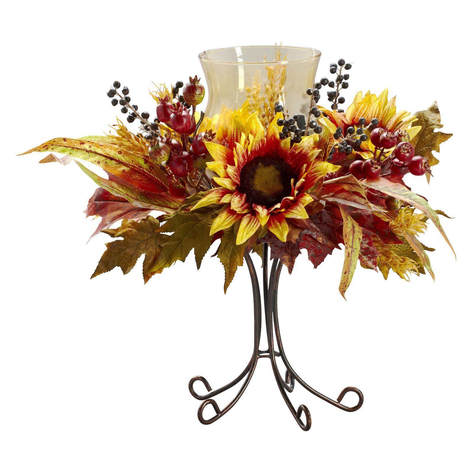 Nearly Natural Sunflower Candelabrum Silk Flower 4933 Products