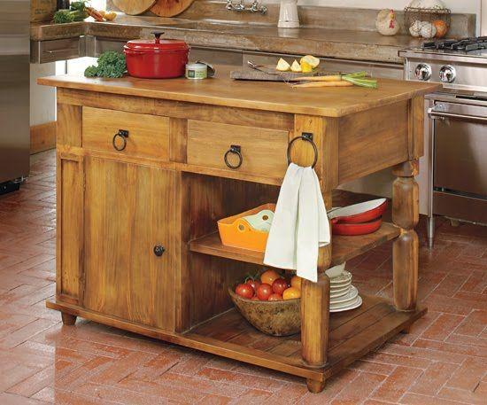 Estilo rustico islas rusticas para las cocinas muebles - Islas para cocinas ...