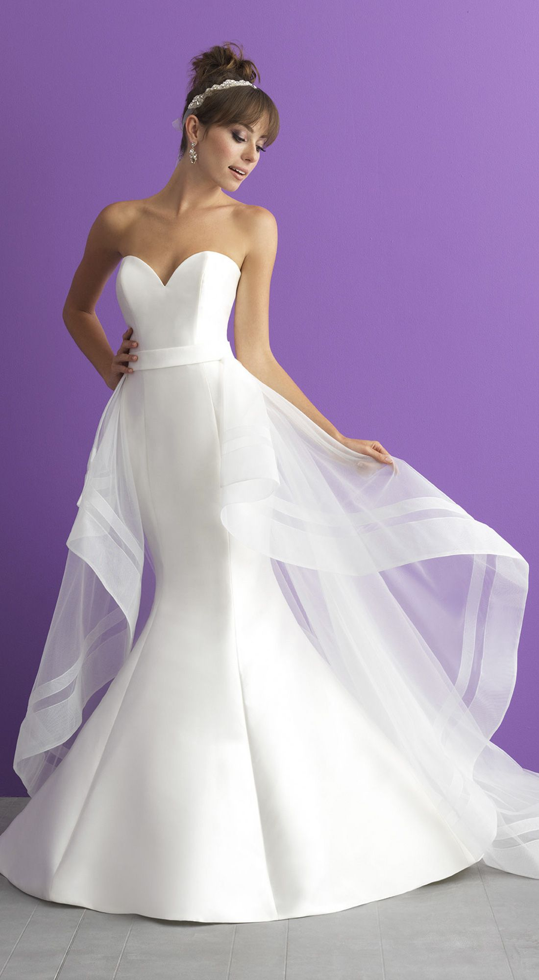Allure Romance style 3000T   A timeless strapless mermaid silhouette ...