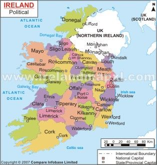Ireland Ireland Map Places I Would Like To Go Pinterest - Ireland political map
