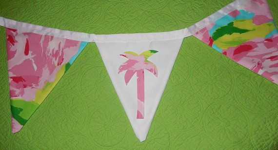 Custom Flag Banner Bunting made with Lilly Pulitzer by jlmyakima