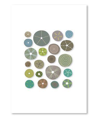 Look at this #zulilyfind! Liz Lyons Sea Urchins II Wall Art #zulilyfinds