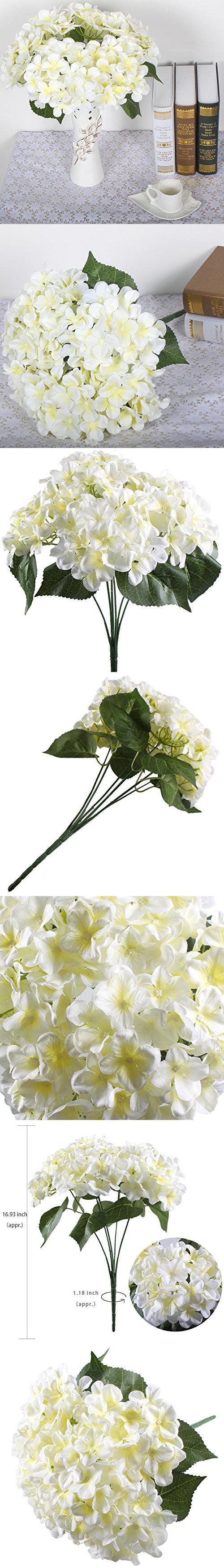 Silk Hydrangea Bulk Pink Hydrangea Cascading Wedding Bouquet With