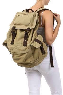 Stylish High End Canvas Backpack