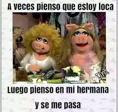 Dedicado A Ti Eva Frases Graciosas Para Hermanos Memes Graciosos De Hermanas Muppets