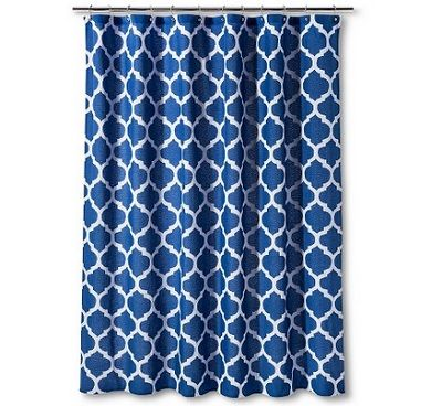 Threshold Shower Curtain Dark Blue Space Dye Lattice 1499 25 Off Target