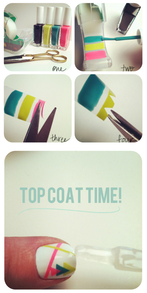 DIY nail sticker tutorial by The Beauty Department. Pinterest is making me nail crazy!