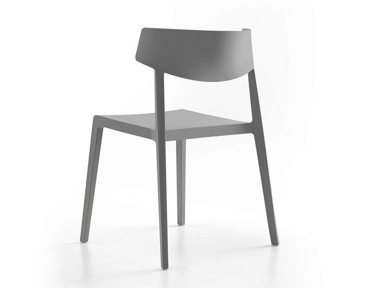 Sedia impilabile wing by actiu sedie legno in