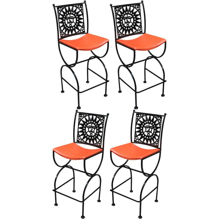 Set Of Four Arthur Umanoff Bar Stools For Shaver Howard | Bar Stool, Stools  And Indoor Outdoor Furniture