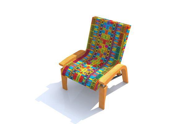 Assikoto Mane African Furniture Design Gabon Mobilier De Salon Design Tissu Fauteuil