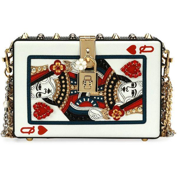 6a0397958b Dolce Gabbana Queen of Hearts Box Clutch Bag