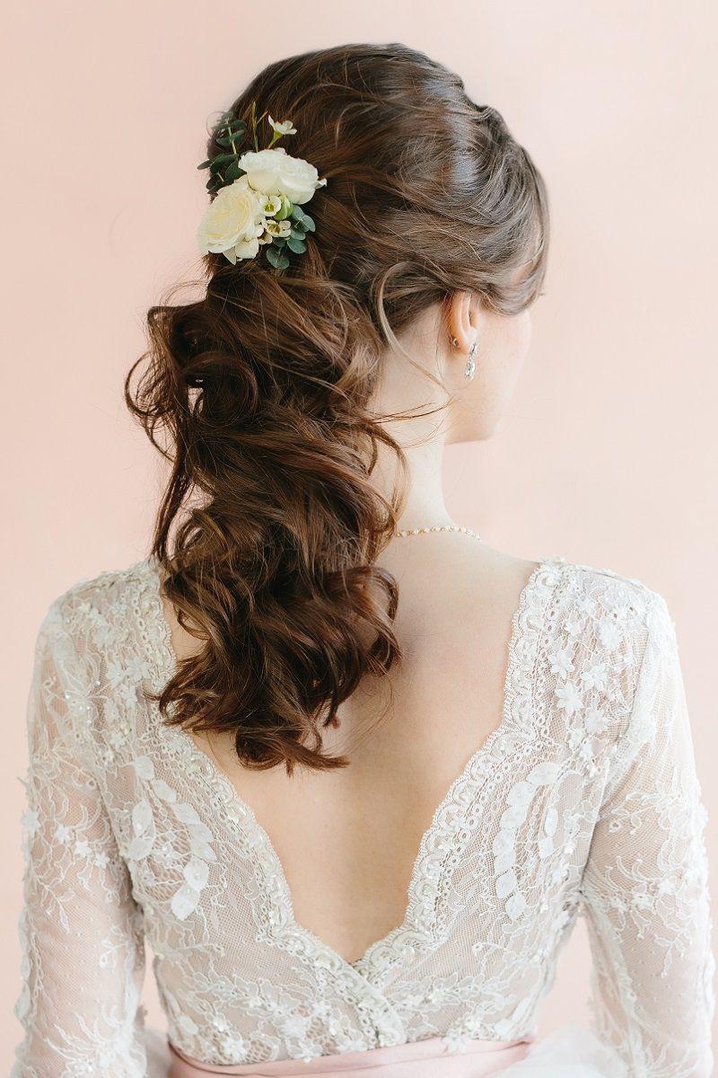 Brautfrisur halboffen für lange Haare – 30 Ideen – Gundi L.