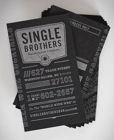 Single Brothers Vintage Style Business Card Design.