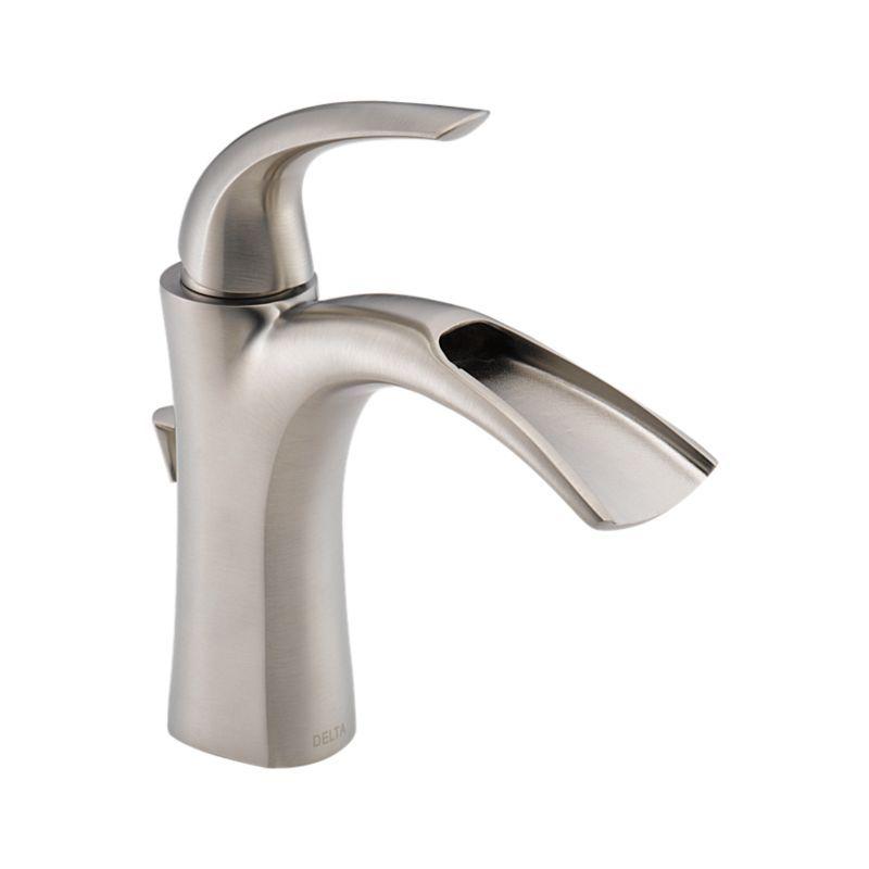 15708lf Ss Nyla Single Handle Centerset Lavatory Faucet Bath Products Delta