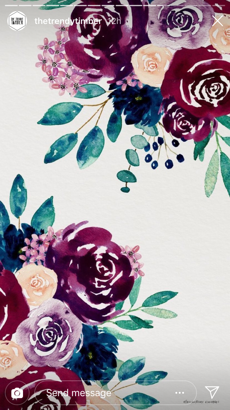 Pin By Mikalah Blanks On Wallpapers In 2020 Floral Wallpaper