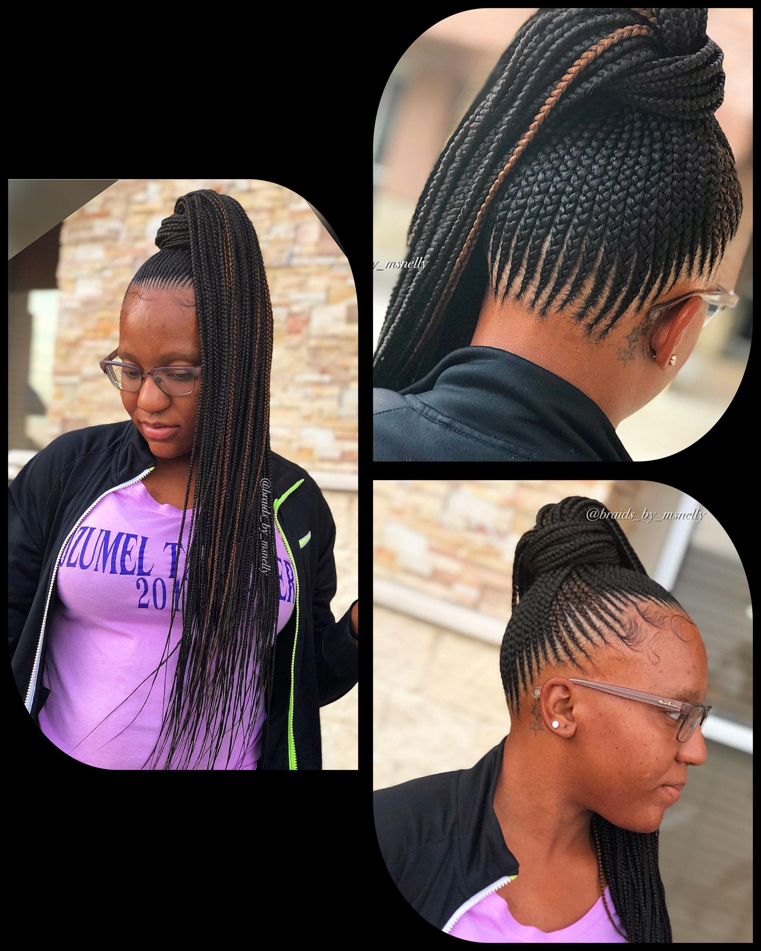 Nicki Pony Cornrow Ponytail Hair Styles Braided Hairstyles