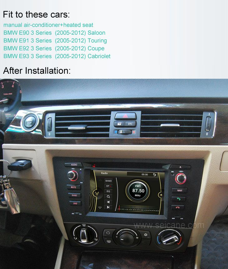 bmw 3 series e90 e91 e92 e93 manual air conditioner car dvd after rh pinterest com difference between manual and automatic air conditioning in cars Earliest That Car Air Conditioning