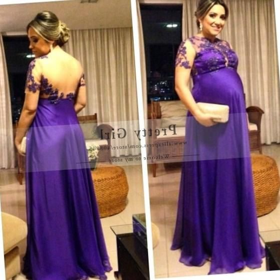 Plus size maternity evening dress - http://pluslook.eu/wedding/plus ...