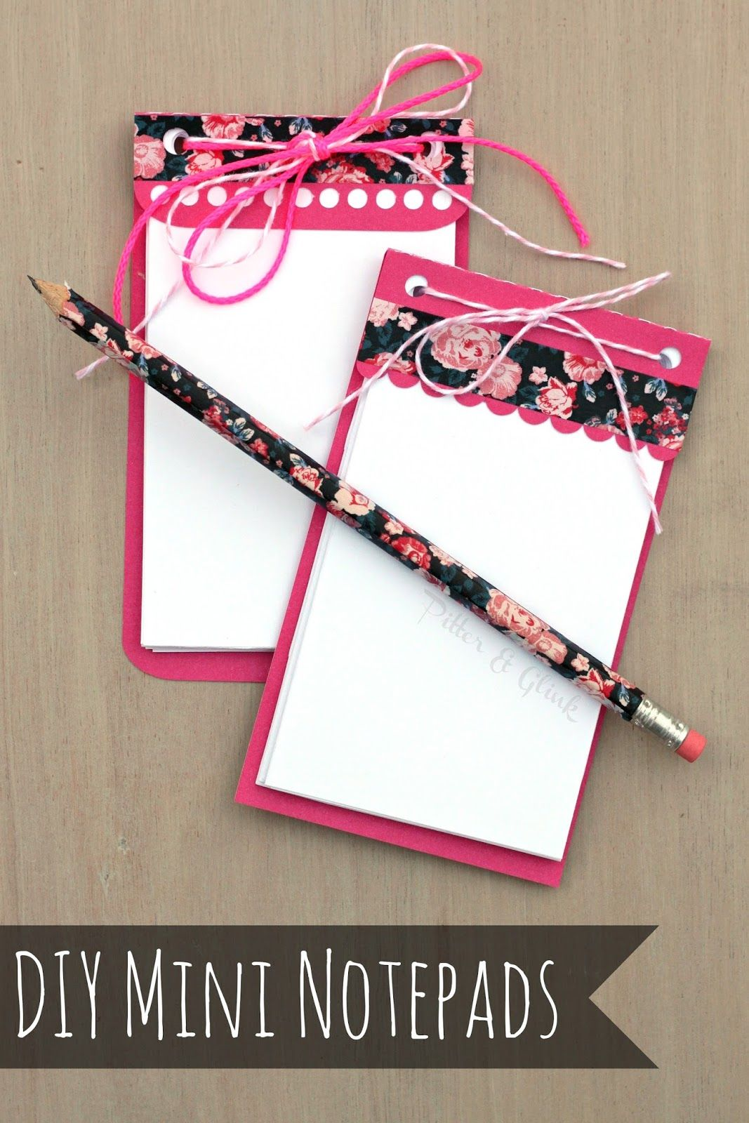 PitterAndGlink: Mini Notepads: A DIY Gift Idea made with my ...