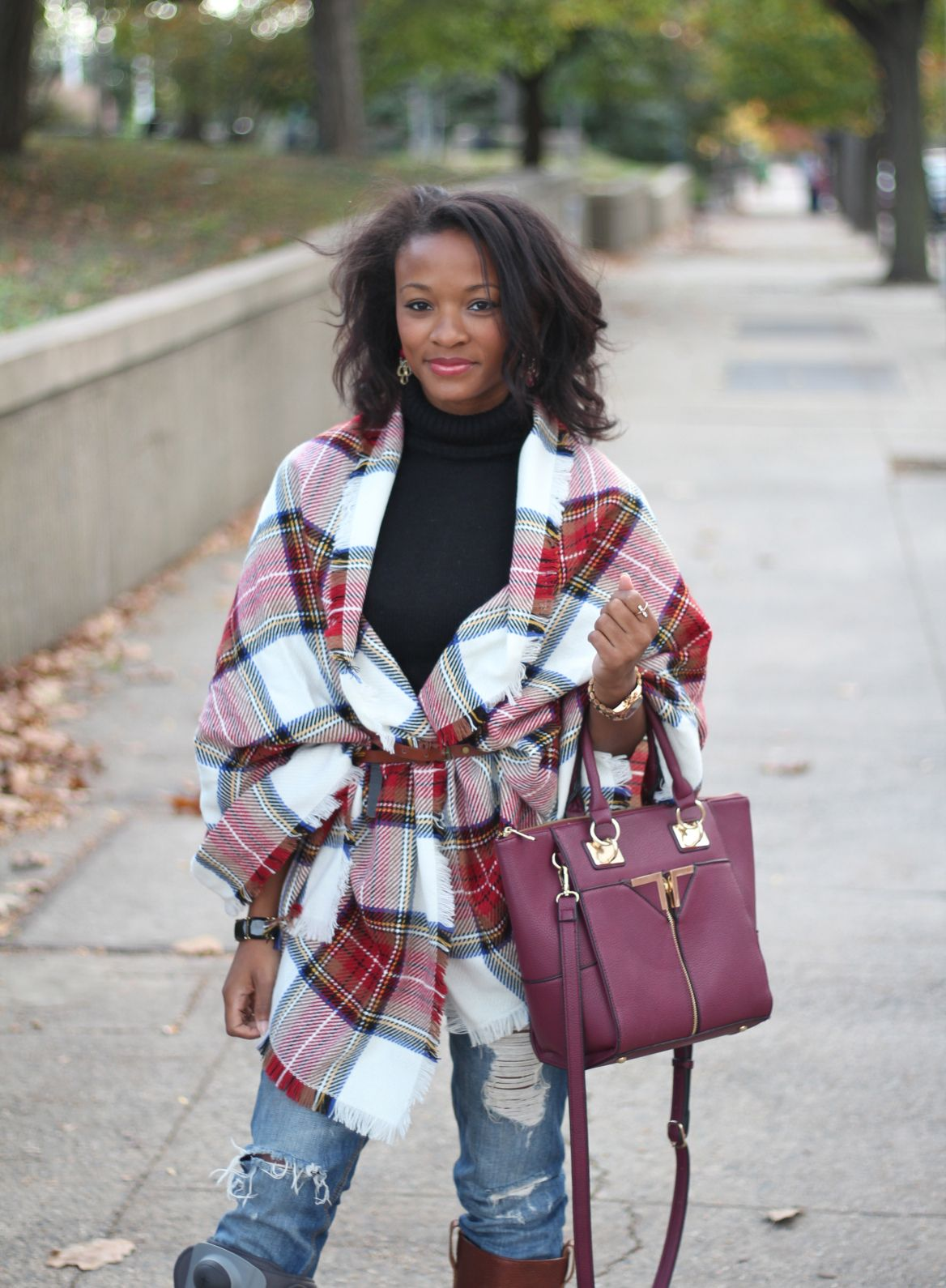 Another way to wear a blanket scarf Vida Fashionista, Fall