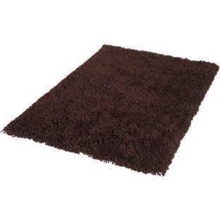 buy living shaggy rug 170x110cm chocolate at. Black Bedroom Furniture Sets. Home Design Ideas