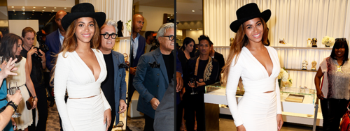 Beyoncé & Giuseppe Zanotti At The Beverly Hills Store Opening 14.04.2015