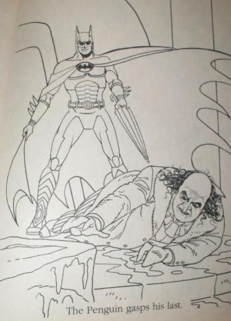 Batman Returns Coloring Page