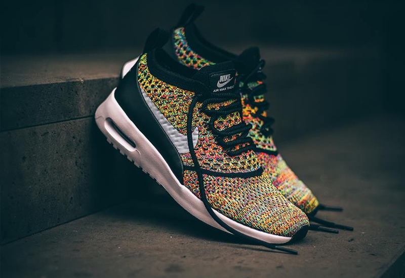 b915ef00ae1d Nike Air Max Thea Ultra Flyknit  Rainbow Multicolor