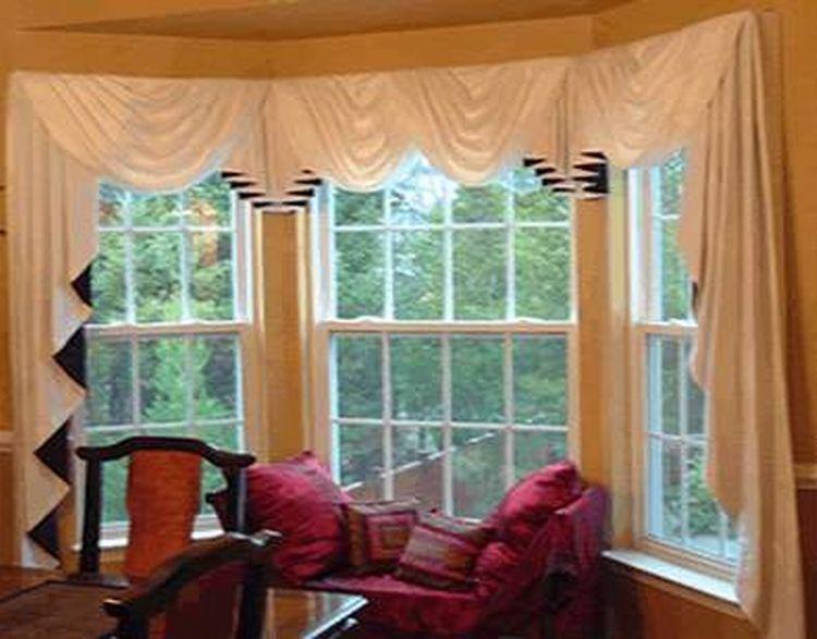 Minimalist Decorative Bay Window Curtain Rods Decoration
