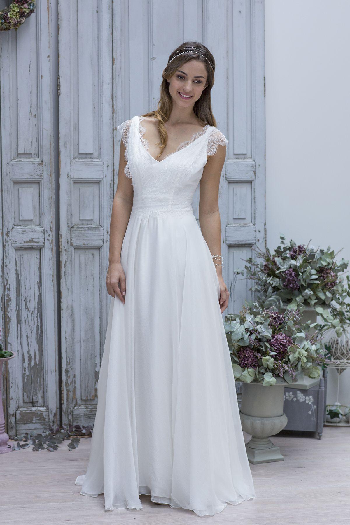 Robe de Mariée : Marie Laporte 2014 | Pinterest | Escote, De novia y ...