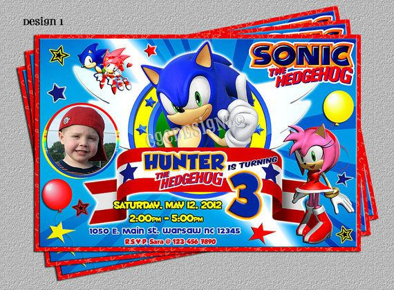 17 Best images about Sonic the Hedgehog Birthday – Sonic Birthday Invitations