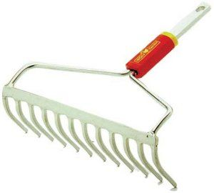 WOLF-Garten Bow Rake 1647004 by Wolf-Garten. $22.68. Bow rake delivers strength and stability. High-quality 13.8-inch steel head. Flat top design allows for leveling seed beds. Widecurved teeth pull through soil or gravel smoothly and easily. Amazon.com                The WOLF-Garten bow rake allows gardener's to quickly change tools in one-click, eliminates the need for having a garage full of unsightly, and space consuming long-handled tools. This bow rake has a h...