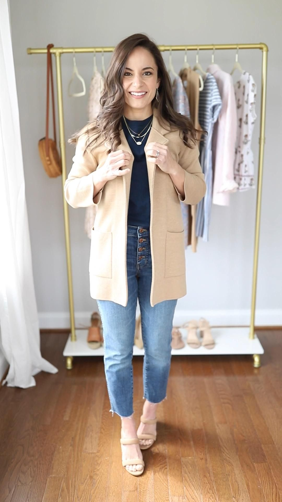Multiple ways to wear straight leg jeans this spring for petite women | petite style | spring style | spring outfit | j.crew jeans | jeans outfits