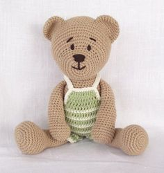 free crochet amigurumi animal patterns | amigurumi_crochet_pattern_teddy_bear_pattern_animal_crochet_pattern ...