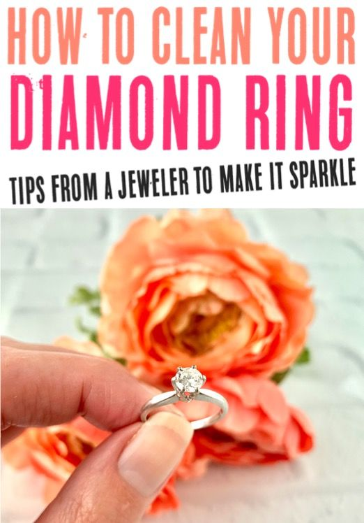 Clean Diamond Ring at Home! {DIY Jewelry Cleaner Tip from ...