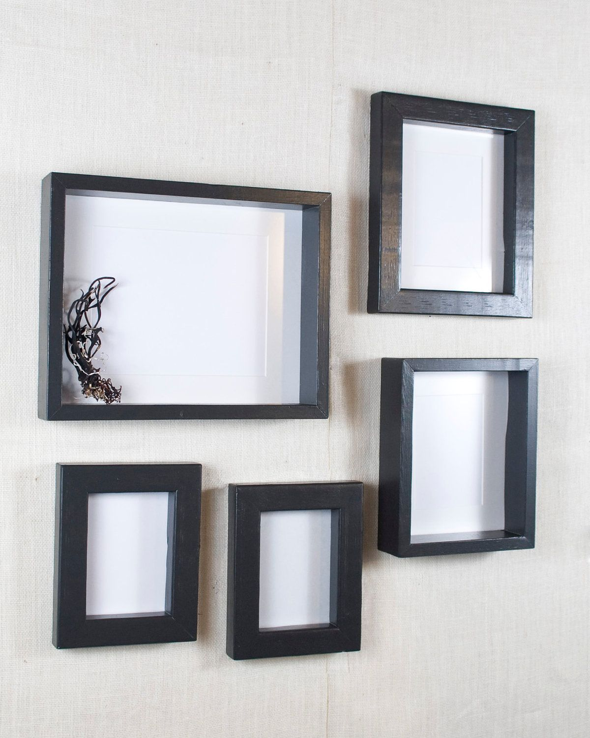 Gallery Wall Picture Frame Set Black Deep Frame And Open Shadow Box Frame Black Picture Gallery Wall Picture Frames Shadow Box Frames Picture Frame Sets