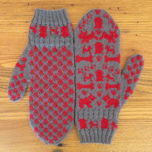 Dog Days Mittens by Kat Lewinski - free