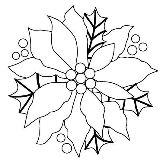 Flor De Navidad Para Imprimir Y Pintar Dibujos Christmas