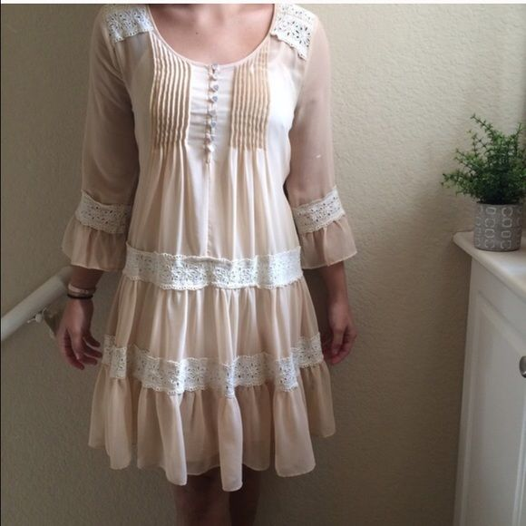 Modcloth summer festival boho dress. Blush colored beautiful boho dress. Reposting because it didn't work for me unfortunately. :-( Size small but would fit a medium as well. Dresses