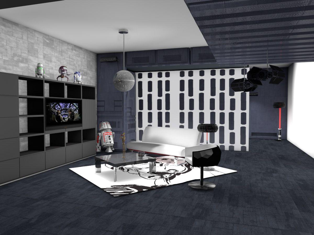 10 Krutyh Intererov V Stile Zvyozdnyh Vojn Star Wars Living Room Star Wars Room Decor Star Wars Room