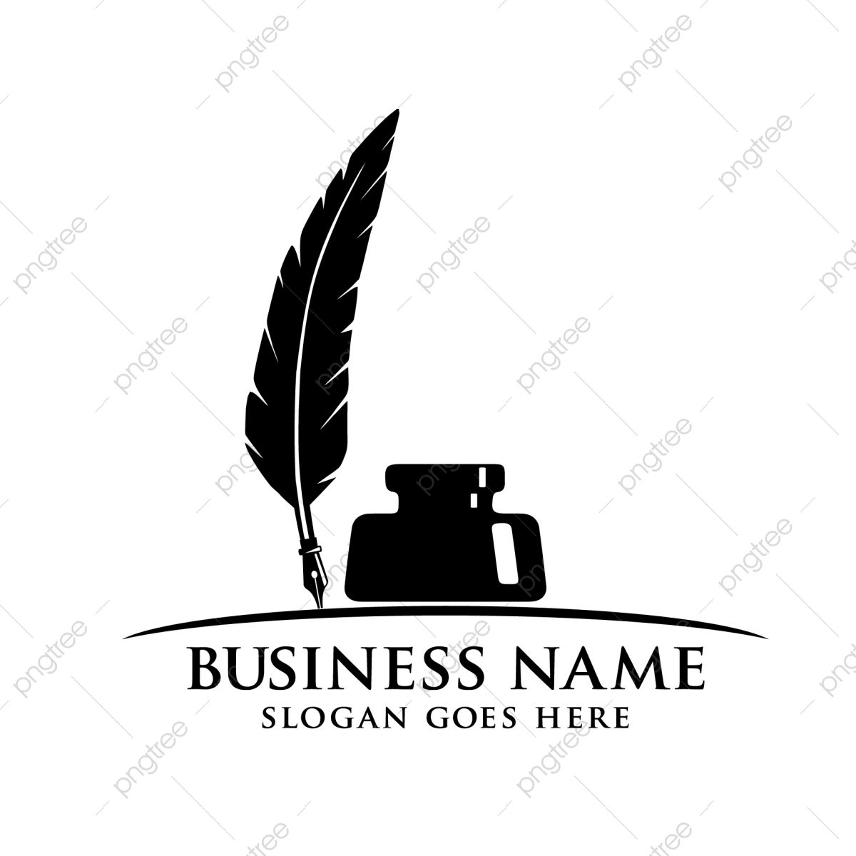 Feather Quill Fountain Pen Beside Ink Bottle Vector Logo Design Feather Icons Logo Icons Bottle Icons Png And Vector With Transparent Background For Free Dow In 2021 Vector Logo Design Bottle