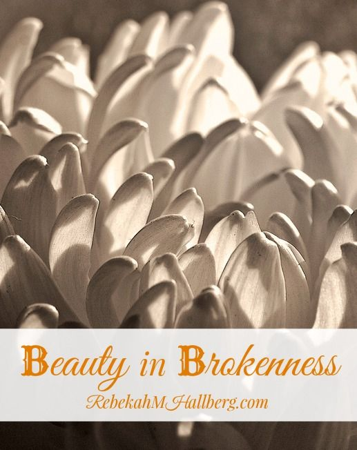 Beauty in Brokenness - seeing past the imperfections to the beauty that can grow with proper love and care