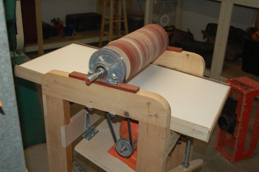 shop built drum sander plans   Shop Made Thickness Sander - by ProbablyLost @ LumberJocks.com .