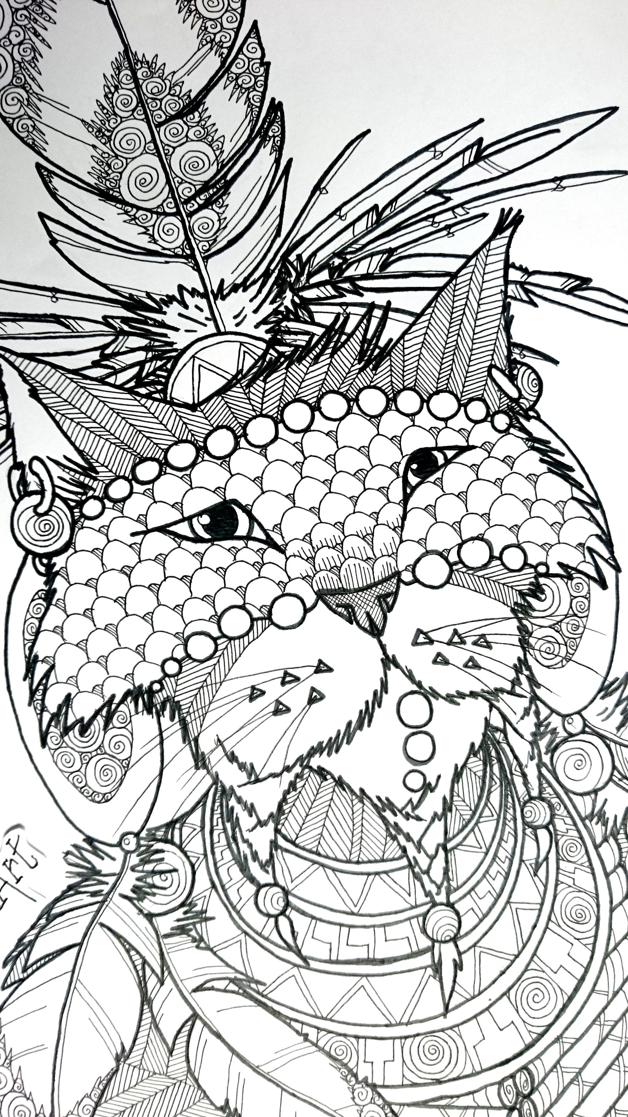 Check Out My Behance Project Duu Druid Undiscovered Tribe 2017 Https Www Behance Net Gallery 58875515 Duu Druid Coloring Pages Druid Fabric Painting