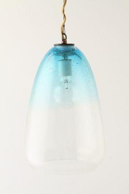 Bubbled Glass Cone Pendant