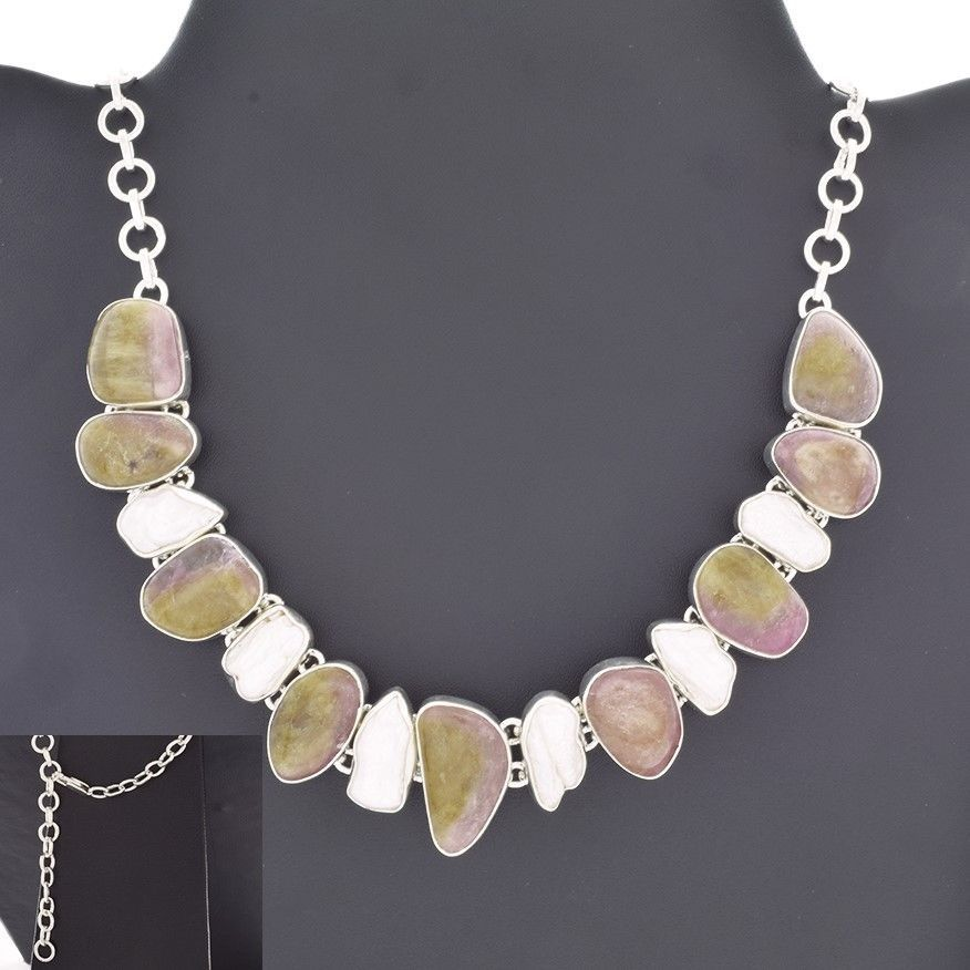 BEAUTIFUL 925 STERLING SILVER NECKLACE FOR WOMEN'S IN MULTI STONES #SilvexImagesIndiaPvtLtd #Necklace