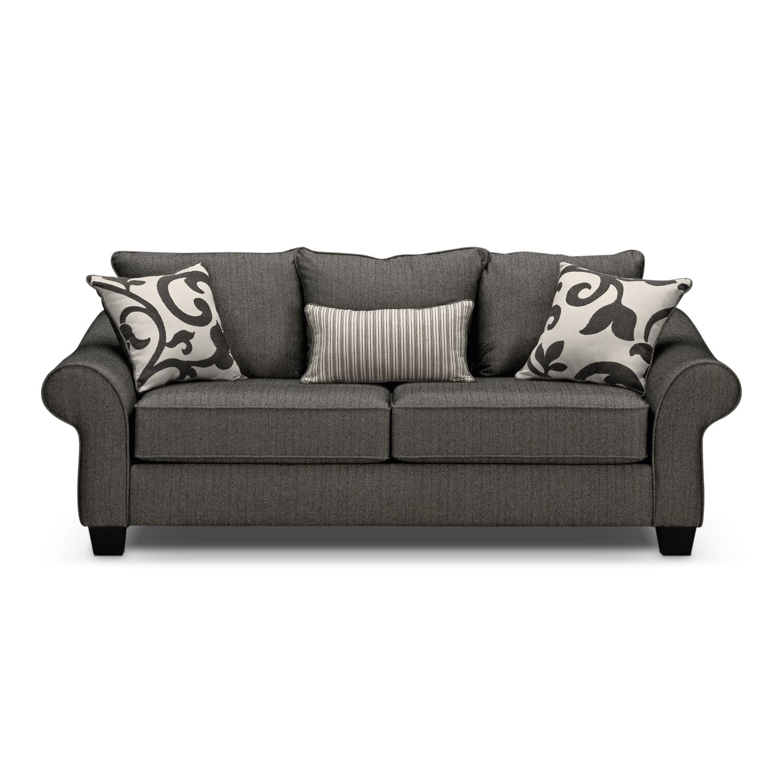 Grey Sofa Chair Harlow Gray Full Memory Foam Sleeper Sofa Furniturecom Living