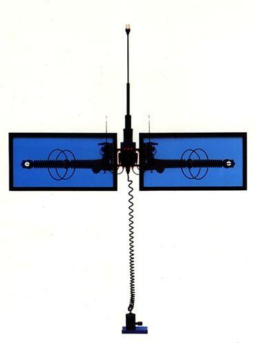"""""""flitsbalans"""" 1992 - 225x250x15 cm"""