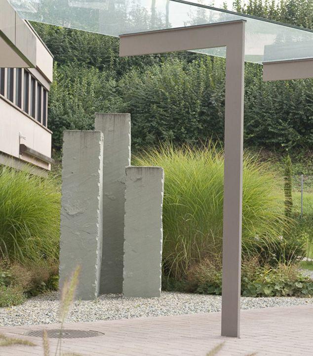 Steinstelen, Steinsichtschutz, Sichtschutz Garten